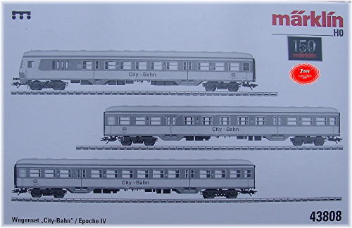 Märklin 43808 Wagen-Set City-Bahn