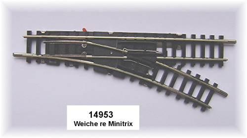 Trix neu Minitrix 14951 gerade Weiche links