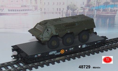 Märklin 48729-Bahntransport Panzer 'Fuchs' 4MFOR