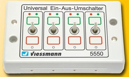 Viessmann 5550 H0-Z Universal-Ein-Aus-Umschalter   NEU OVP ~