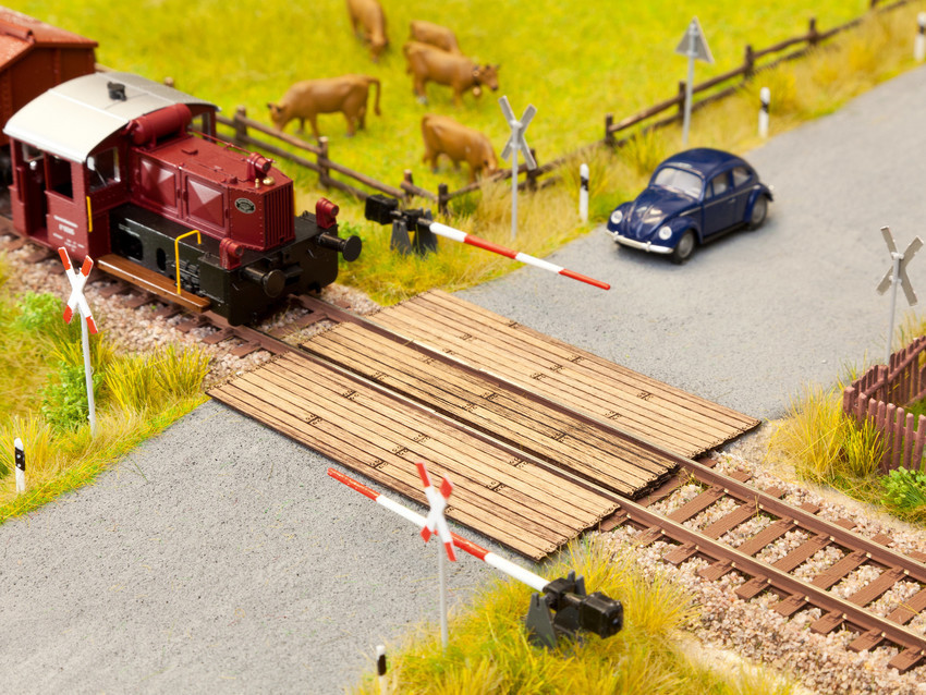NOCH 14304 Gleisübergang zum Bahnübergang 1 Stück Laser Cut H0 Neu