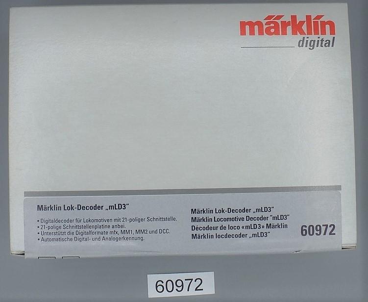 Märklin 60972 Lok-Decoder mLD//3 mit 21 Poliger Schnittstelle  NEU