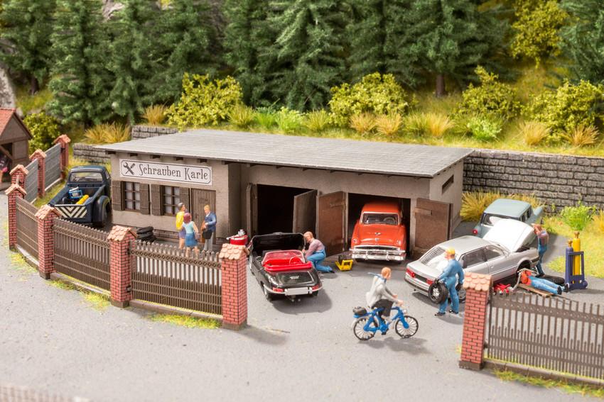 Noch 66112 Spur H0 Hinterhof Werkstatt Schrauben Karle Laser Cut Minis Bausatz