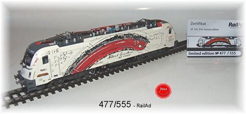 RailAd 1039 AC E-Lok Taurus BR 541 Albert Einstein Wechselstromversion