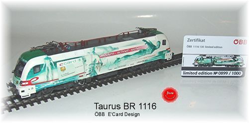 "RailAd 1036 AC E-Lok Taurus Siemens 1116 130 ""e-card""  Wechselstromversion"