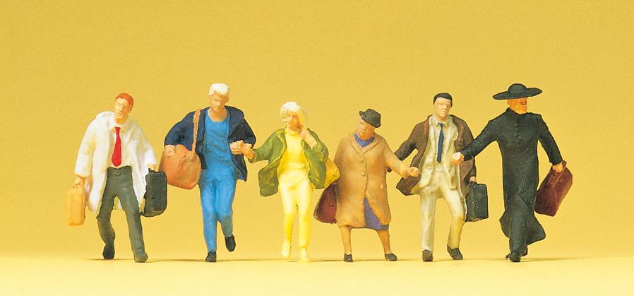 Preiser 14068 H0 Figuren Reisende in großer Eile