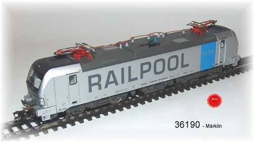 "Märklin 36190 E-Lok BR 193 ""Railpool"" mfx Sound Metall"