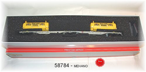 Mehano 58784 - DC- Containertragw. SGGMRSS 90' AAE/WLE Ludwig Bier Tankcontaine