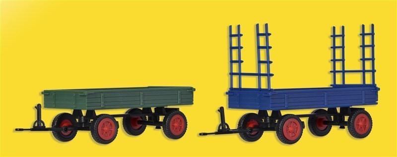 2 Stück Spur H0 Kibri 15702 FENDT Gummiradwagen Bausatz