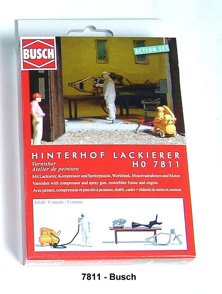 Busch Ho 7811 Action Set Hinterhof Lackierer Fertigmodell