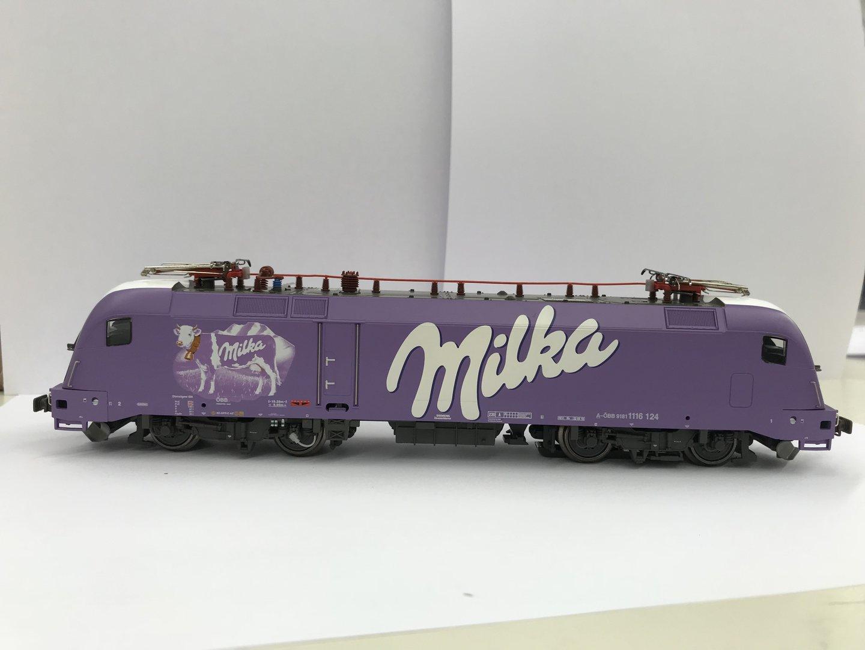 HO Taurus Rail Ad--MILKA -ÖBB--1116 124-NEUHEIT in DC mit Schnittstelle SELTEN!