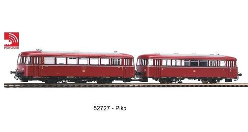 Piko 52727- Sound-Schienenbus 798 + Steuerwagen 998.6 AC-Version inkl. Sound