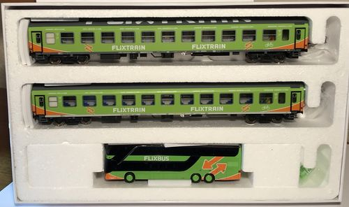 ACME 90150 Flixtrain Set B H0 1:87 Gleichstrom 3-teiliges Set