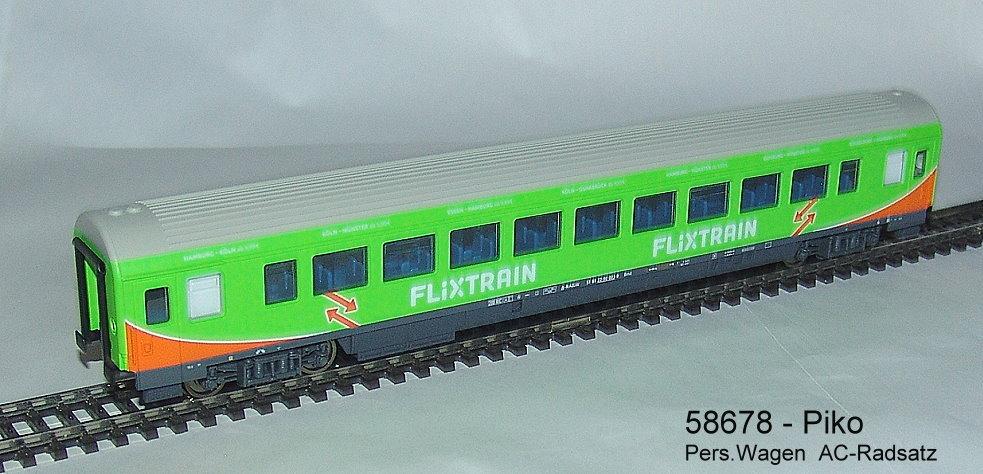 "neu PIKO H0 58678 Personenwagen /""Flixtrain/"" OVP"