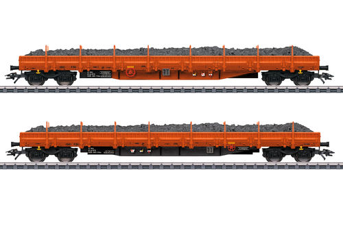 "Märklin 47099 Niederbordwagen-Set ""Schottertransport"" RTS 2-teilig"