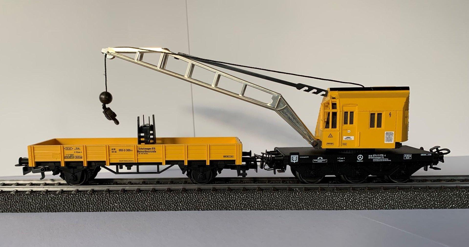 Niederbordwagen 4471 #NEU OHNE Originalverpackung# Set Märklin 4671 Kranwagen